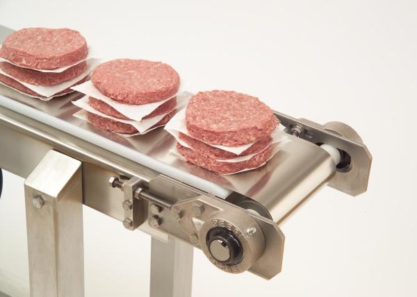 ステンレススチールコンベヤベルトで食品安全性を保持